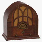 Antieke radio 01 3d model