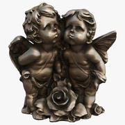 Statuetki aniołów 3d model
