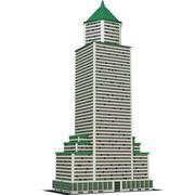 Wolkenkrabber 14 3d model