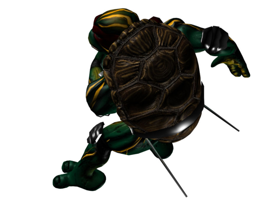 tmnt raph royalty-free 3d model - Preview no. 2