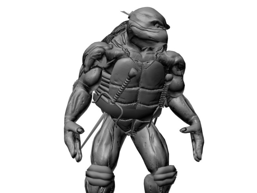 tmnt raph royalty-free 3d model - Preview no. 7