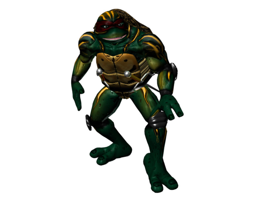tmnt raph royalty-free 3d model - Preview no. 1