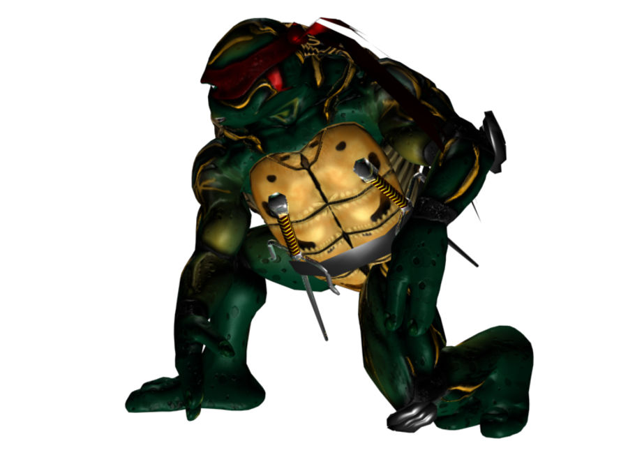 tmnt raph royalty-free 3d model - Preview no. 4