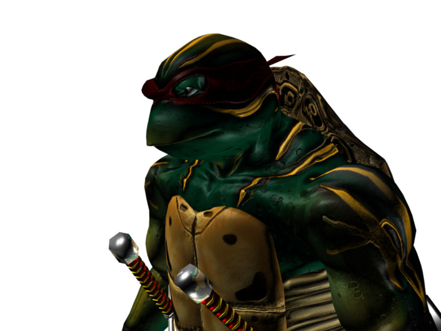 tmnt raph royalty-free 3d model - Preview no. 5