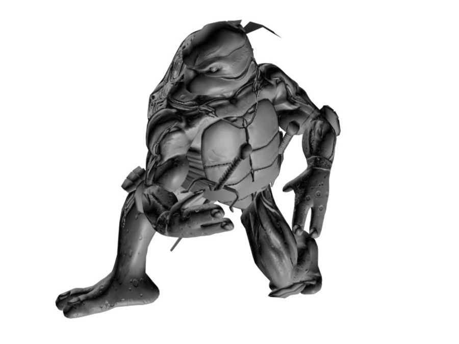 tmnt raph royalty-free 3d model - Preview no. 8