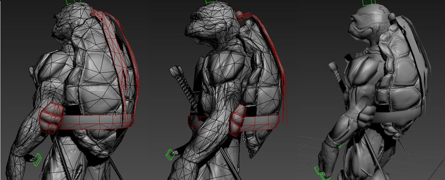 tmnt raph royalty-free 3d model - Preview no. 9