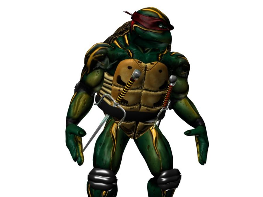 tmnt raph royalty-free 3d model - Preview no. 6