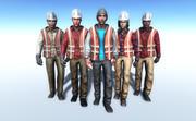 Workers People 3d model