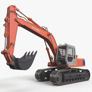Rigged Tracked Excavator Generic 3d model