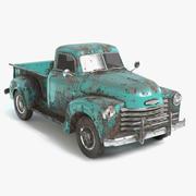 Abandoned Pickup Truck 3d model