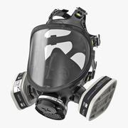 安全全面罩呼吸器 3d model