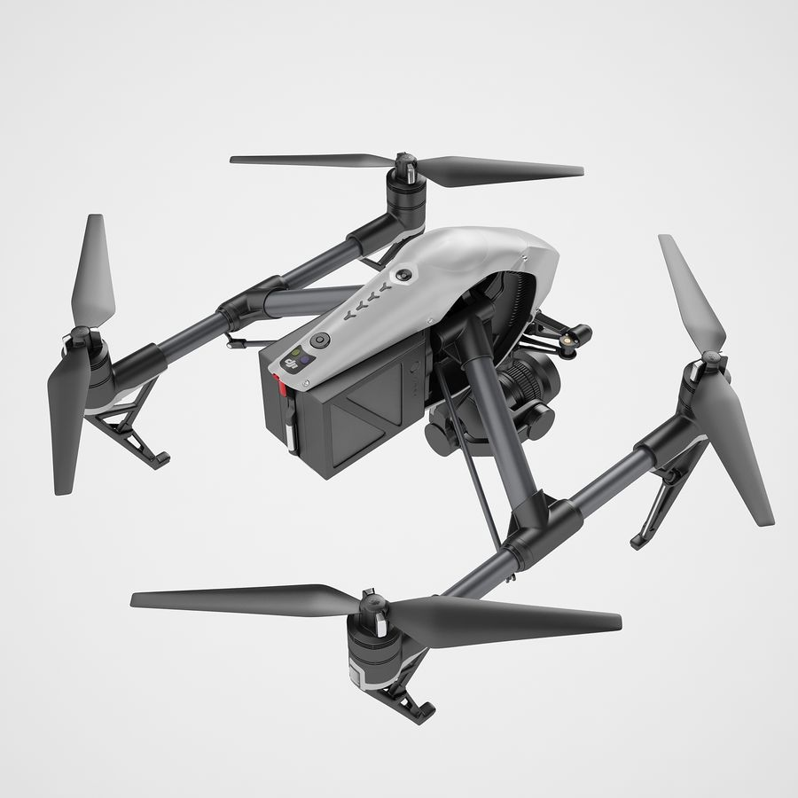 DJI Inspire 2 royalty-free 3d model - Preview no. 13