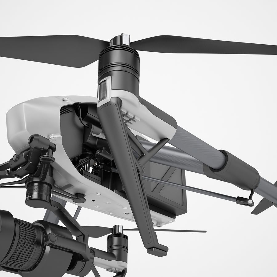 DJI Inspire 2 royalty-free 3d model - Preview no. 21