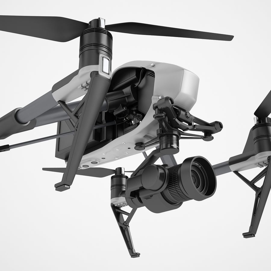 DJI Inspire 2 royalty-free 3d model - Preview no. 15