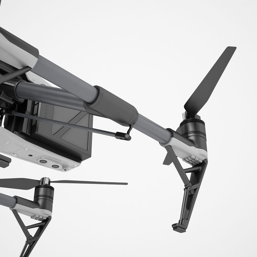 DJI Inspire 2 royalty-free 3d model - Preview no. 23
