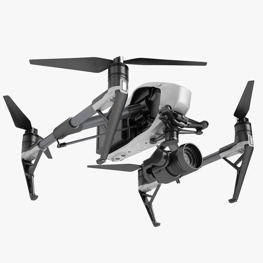 DJI Inspire 2 royalty-free 3d model - Preview no. 1