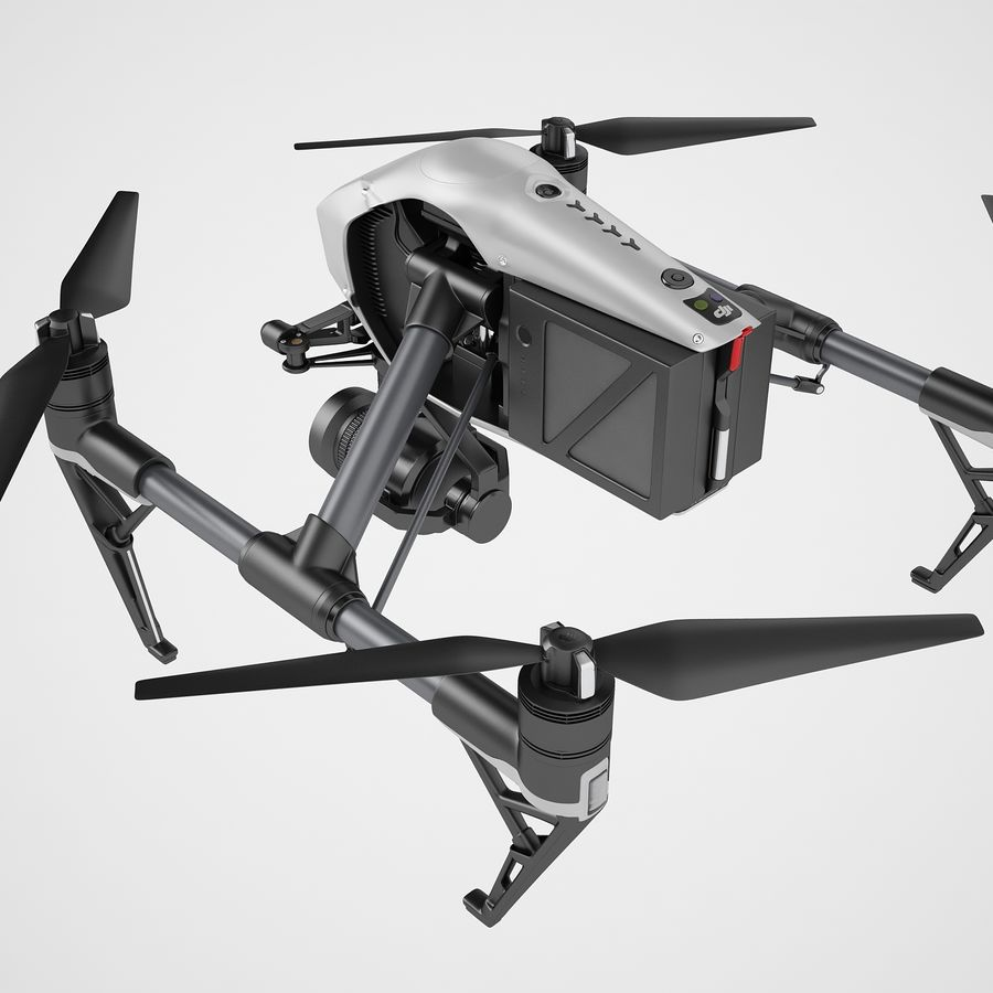 DJI Inspire 2 royalty-free 3d model - Preview no. 25