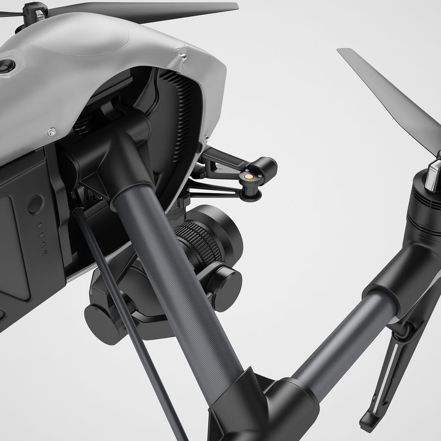 DJI Inspire 2 royalty-free 3d model - Preview no. 29