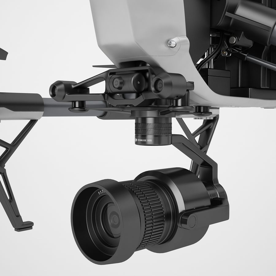 DJI Inspire 2 royalty-free 3d model - Preview no. 39