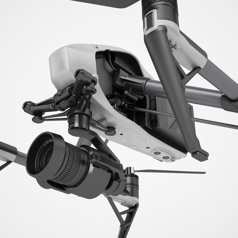 DJI Inspire 2 royalty-free 3d model - Preview no. 19