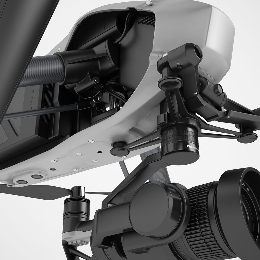 DJI Inspire 2 royalty-free 3d model - Preview no. 35