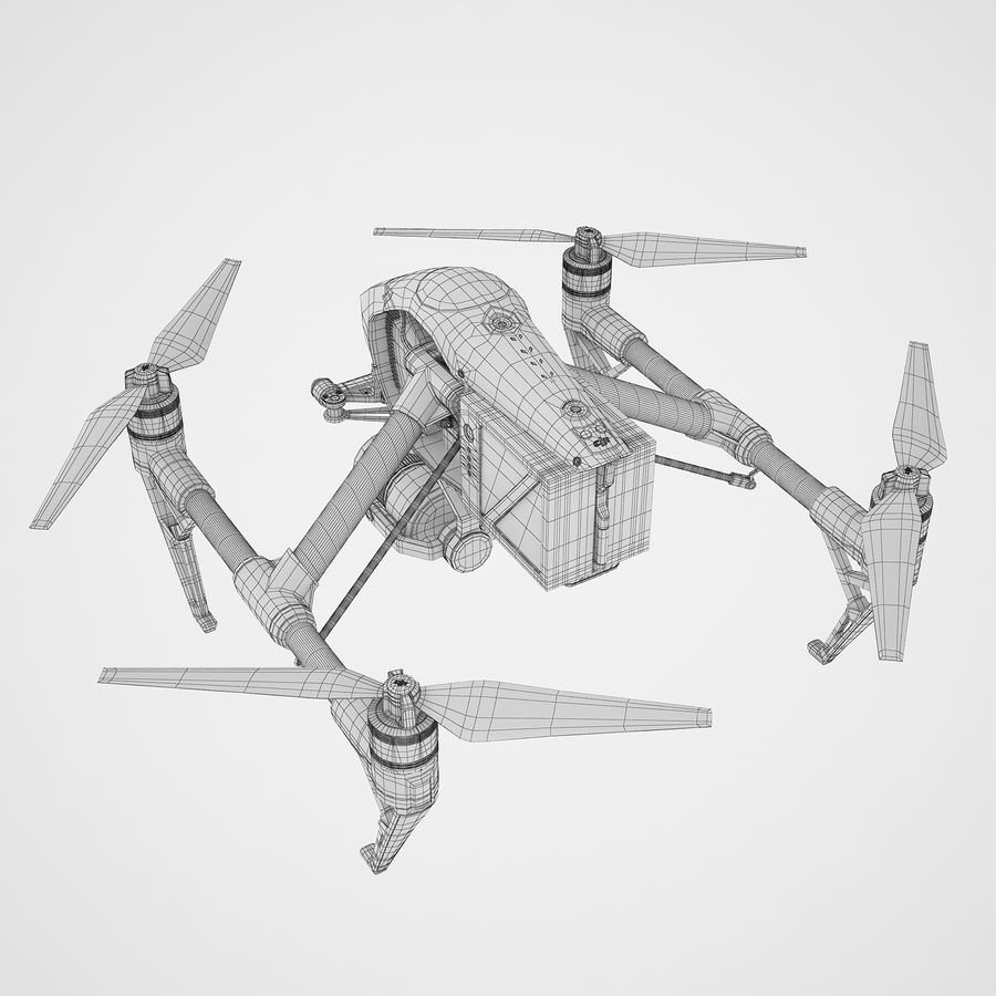 DJI Inspire 2 royalty-free 3d model - Preview no. 12