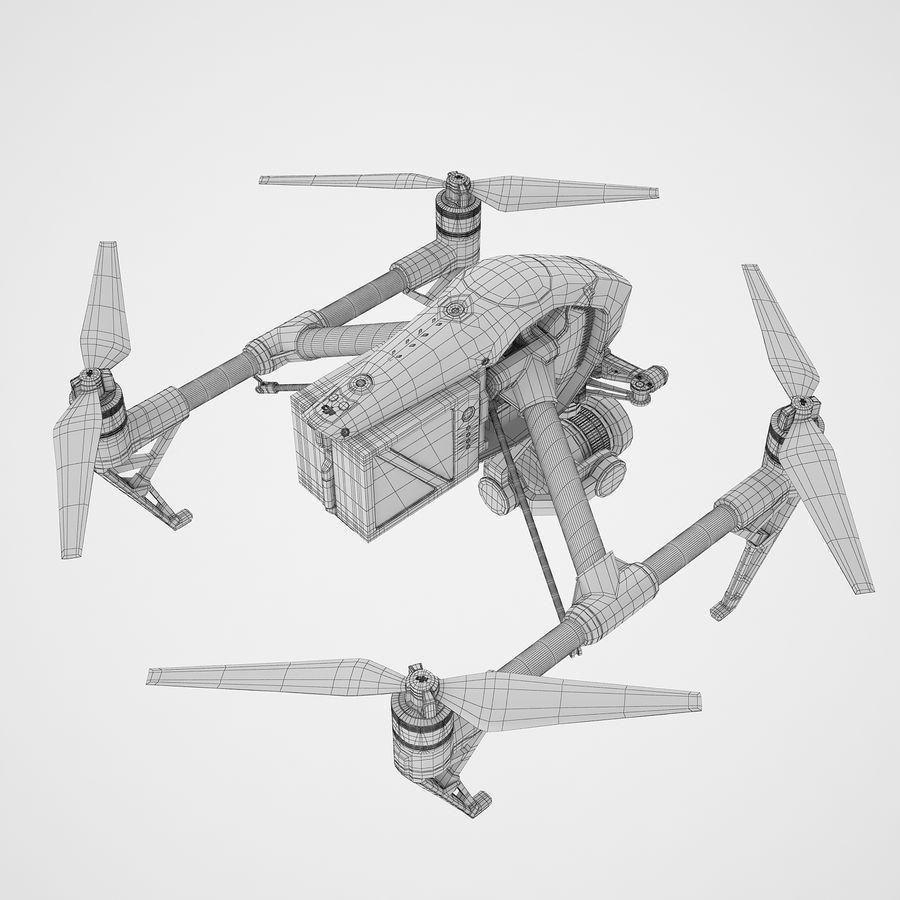 DJI Inspire 2 royalty-free 3d model - Preview no. 14