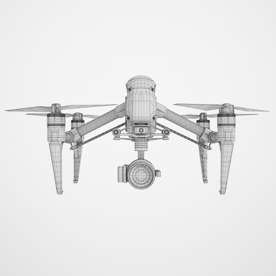 DJI Inspire 2 royalty-free 3d model - Preview no. 6