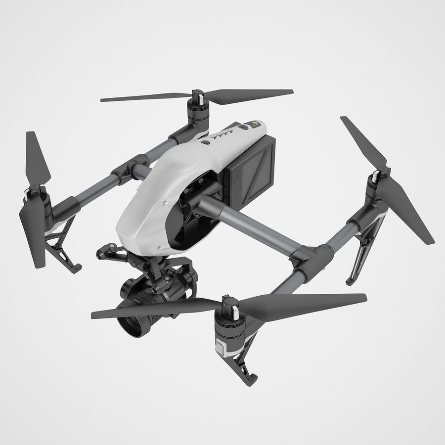 DJI Inspire 2 royalty-free 3d model - Preview no. 9