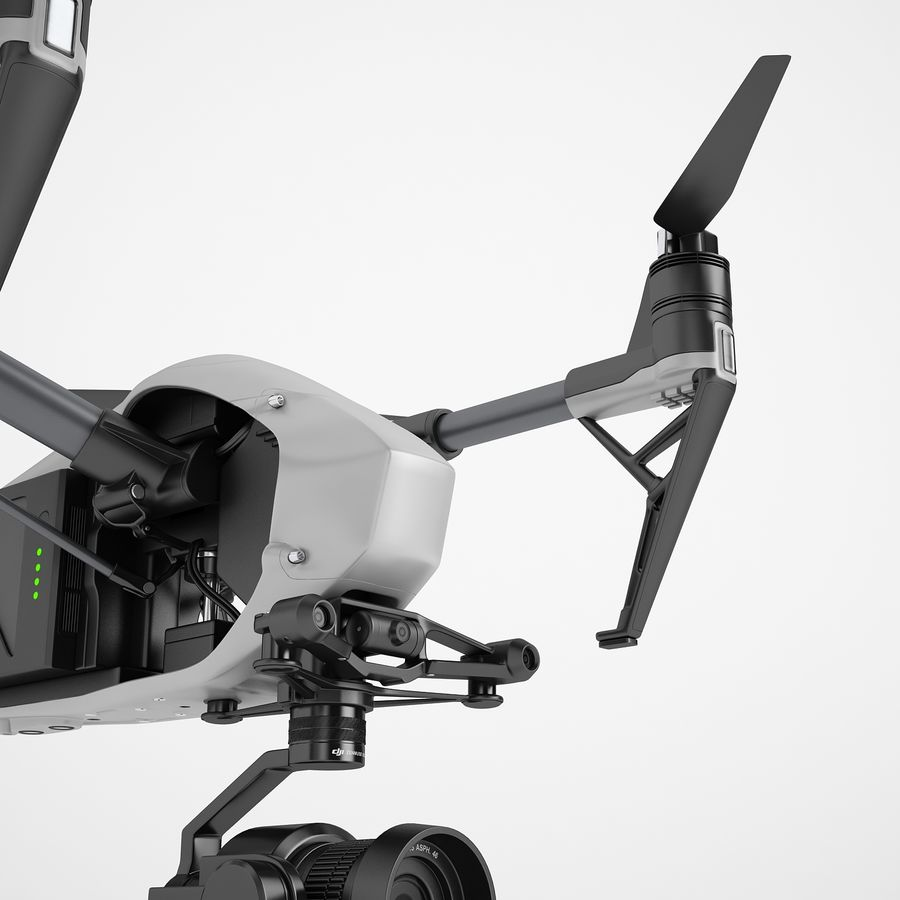 DJI Inspire 2 Fly royalty-free 3d model - Preview no. 19
