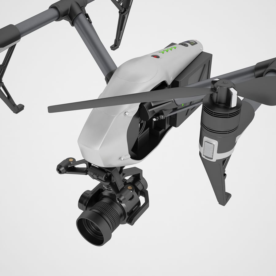 DJI Inspire 2 Fly royalty-free 3d model - Preview no. 23