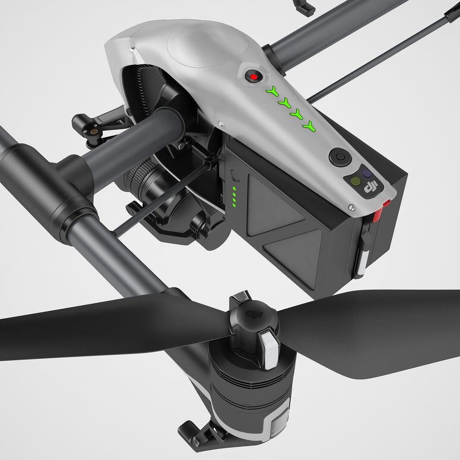 DJI Inspire 2 Fly royalty-free 3d model - Preview no. 45