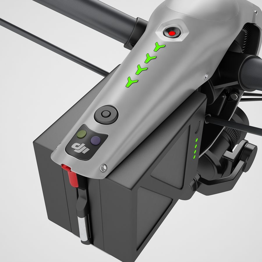 DJI Inspire 2 Fly royalty-free 3d model - Preview no. 47