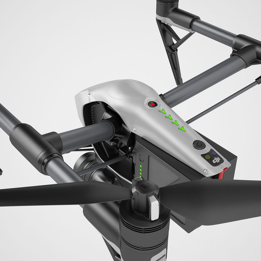 DJI Inspire 2 Fly royalty-free 3d model - Preview no. 25