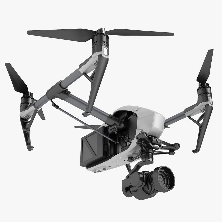 DJI Inspire 2 Fly royalty-free 3d model - Preview no. 1