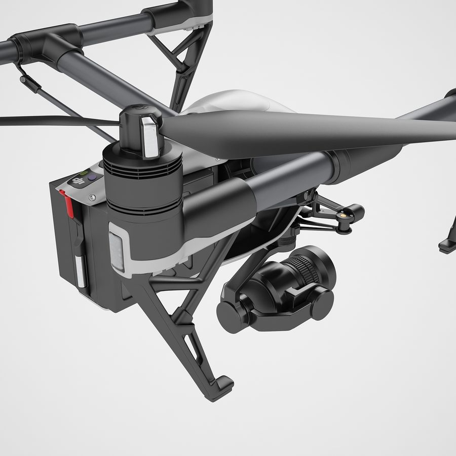 DJI Inspire 2 Fly royalty-free 3d model - Preview no. 29