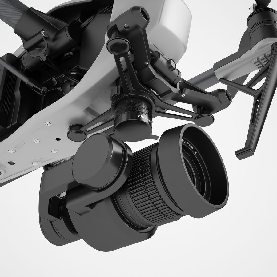 DJI Inspire 2 Fly royalty-free 3d model - Preview no. 35