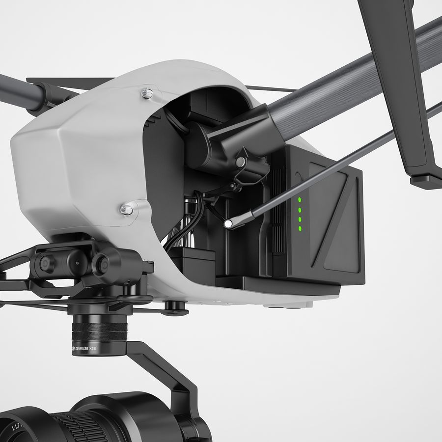 DJI Inspire 2 Fly royalty-free 3d model - Preview no. 39