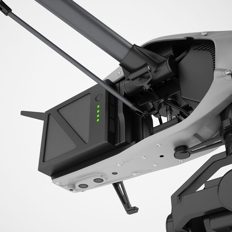 DJI Inspire 2 Fly royalty-free 3d model - Preview no. 33