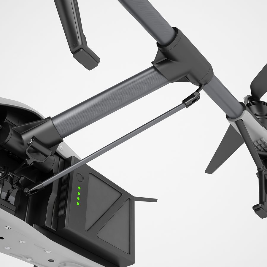 DJI Inspire 2 Fly royalty-free 3d model - Preview no. 41