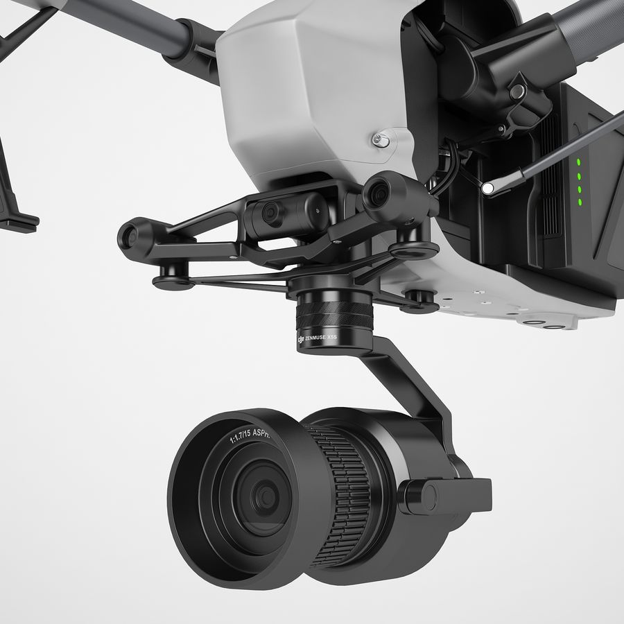 DJI Inspire 2 Fly royalty-free 3d model - Preview no. 37