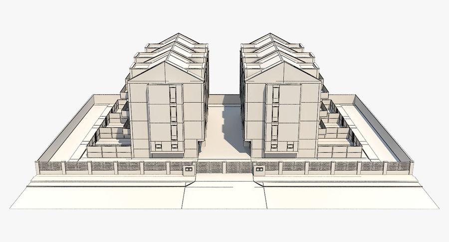 Apartment Buildings Block 2 royalty-free 3d model - Preview no. 9