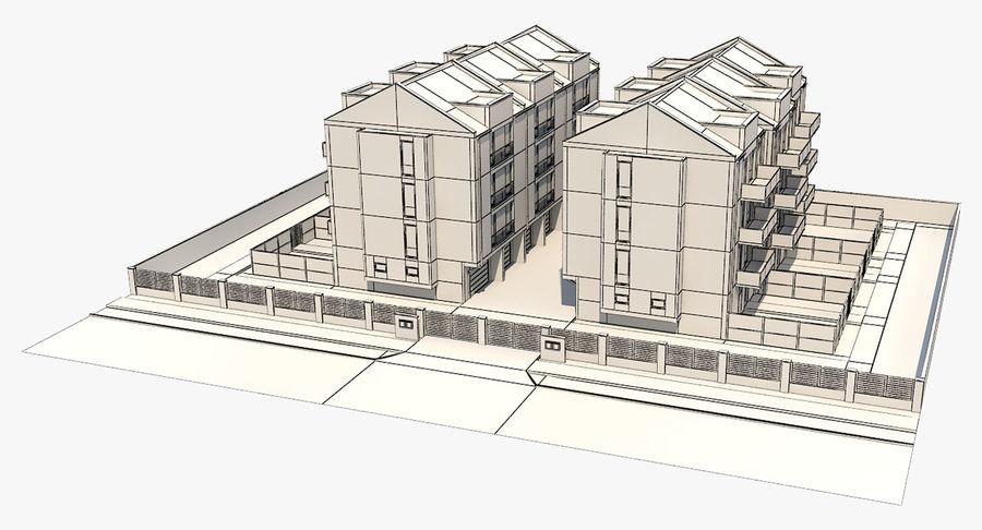 Apartment Buildings Block 2 royalty-free 3d model - Preview no. 14
