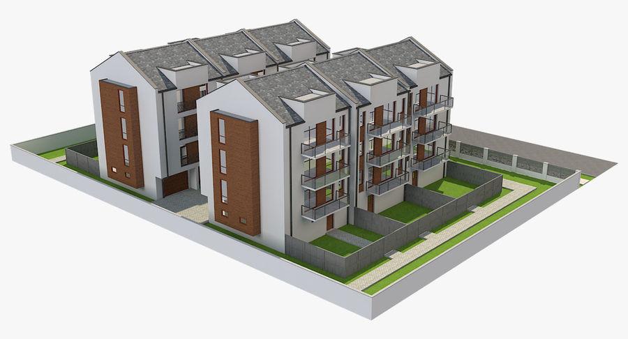 Apartment Buildings Block 2 royalty-free 3d model - Preview no. 4