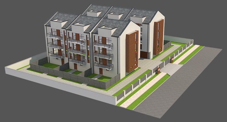 Apartment Buildings Block 2 royalty-free 3d model - Preview no. 2