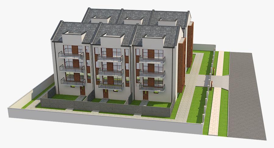 Apartment Buildings Block 2 royalty-free 3d model - Preview no. 3