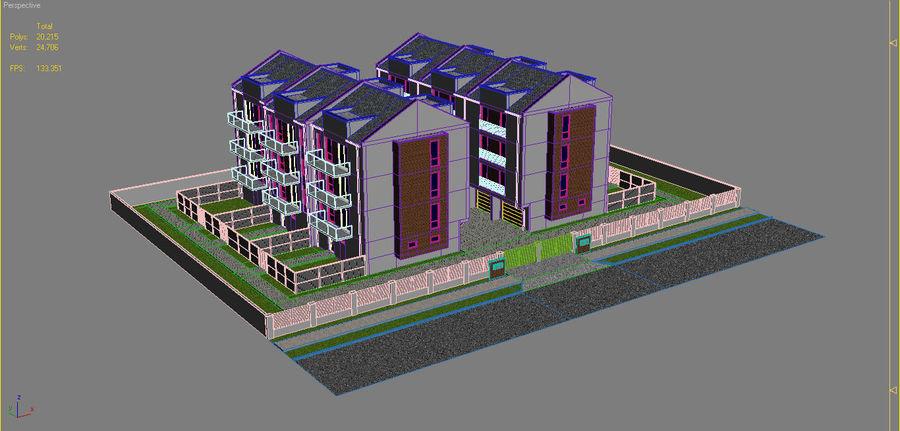 Apartment Buildings Block 2 royalty-free 3d model - Preview no. 17