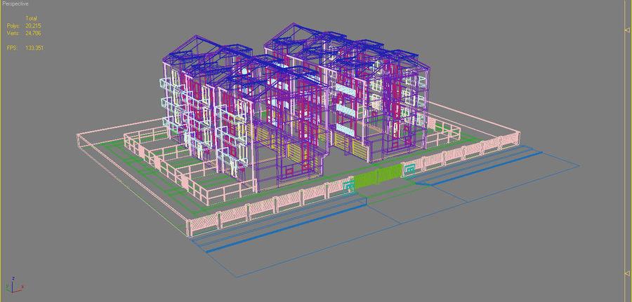 Apartment Buildings Block 2 royalty-free 3d model - Preview no. 16