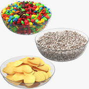 Food Glass Bowls Collection 3d model