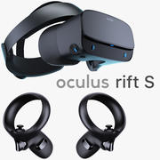 Oculus Rift S and Controllers 3d model